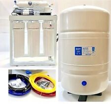 RO Reverse Osmosis Water Filter System 200 GPD-Booster Pump -10 Gallon Tank