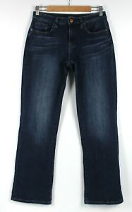 JEANSWEST Sz 10 Womens Jeans Curve Embracer Boot Cut Mid Rise Blue Stretch Denim