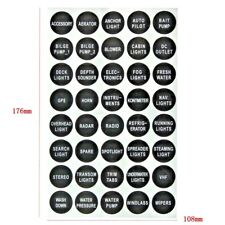 40pc - ATV Marine Boat Rocker Toggle Switch Panel - Name Decal Sticker Label Set