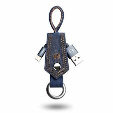 10'' IOS Charger Cable Keychain Lightning Data Cord for iPhone 6 7 Plus Denim