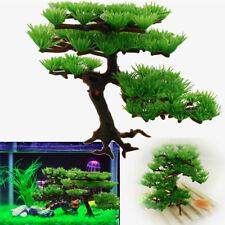 Aquarium Artificial Plastic Pine Tree Water Plant For Fish Tank Ornament Decor