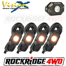 VISION X 9 WATT LED ROCK LIGHT 4 POD KIT / AMBER - HIL-RL4A JEEP TRUCK UTV