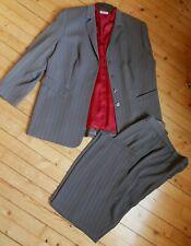 40 42 44 46 48 50 Highlight Stretch Kostüm Anzug Rock Top Jacke Schwarz Dunkerot