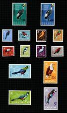 "Uganda 1965 ""Trade Fair, Kampala"" sg111/2 & ""Birds"" set to 5/- sg113/24."