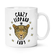 Crazy Leopard Lady 10oz Mug Cup - Funny Animal