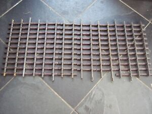 8 LGB 10000 G SCALE MODEL RAILWAY 300mm BRASS TRACK STRAIGHTS