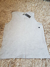 NUOVO Donna Superdry Abercrombie Fitch il & A&F Muscle Tee Taglia M T-Shirt Grigio RRP £ 18