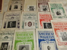 11 american magican magazine 1909-1910 Goldston Ducrot