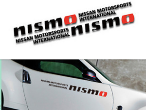 """A Pair Luxury Black Nismo Motorsports Car Door Stickers Side Decal For 23.62"""""""