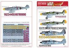 KIT-mondo 1/48 Luftwaffe CACCIA i numeri per Bf109F/G/K e Fw190 # 48042
