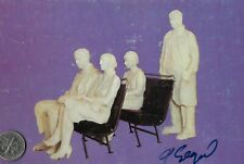 """George Segal, Artist, Autographed Photo Pc of his """"Bus Riders"""" Sculpture (#183)"""