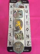 Vintage Button Covers Killer Buttonz Wild Animals