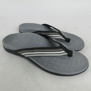 Orthaheel Island Black Casual Comfort Thongs Flip Flops Sandals Women's Size 9