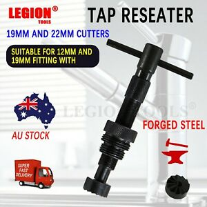 Tap Reseater Fixing Leaky Tap Plumbing Tool Indoor/Outdoor 19mm/22mm Cutter