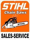 "STIHL Chain Saw Sales & Service 9"" x 12"" Metal Tin Aluminum Sign"