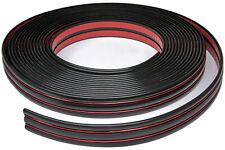 Zierleiste 44mm breit | schwarz rot metallic| flexibel selbstklebend | Meterware