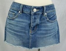 American Eagle Buttonfly Cut-Off Style Jean Denim Skirt Size 4