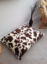 Beanbag Floor Cushion Filled Brown Cow Faux Fur Large 3cf Size Luxurious