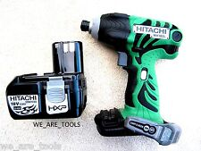 New Hitachi WH18DL 18V Cordless Impact Driver, (1)  EBM1830 Battery 18 Volt
