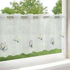 Scheibengardine 45 x 115 cm Schmetterlinge Bistrogardine Kurzgardine