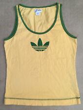 Adidas Yellow Green Tank Top Large Men Originals Gym Running Yoga Brasil Brazil