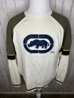 Ecko Unltd Sweater Mens Size XL Embroidered Rhino Brand Green Vintage