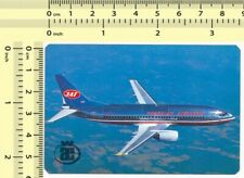 016 1986 JAT AIRWAYS Yugoslav Airlines - vintage old paper pocket calendar