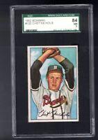 1952 Bowman Chet Nichols #120 Boston Braves GRADED SGC 84 NM 7 PSA ?
