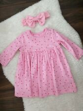 Baby Girl Pink Dress ( Mothercare ) + Headband Size 6-9Months