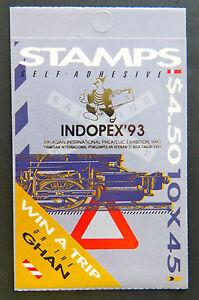 Australian Stamps: 1993 Trains Booklet - Overprint - Indopex