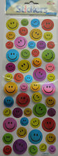Fun Holo LaserStickers Smily face Sheet Party Pack Bag Filler Emblishment Shiny