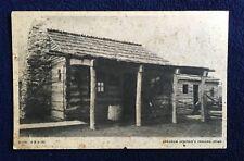 Vintage 1933 Postcard Abraham Lincoln's Indiana Home Chicago World's Fair G