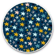 2 x Vinyl Stickers 30cm - Colourful Hand Drawn Star Pattern  #44665