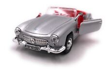 Mercedes Benz Coche a Escala con Wunschkennzeichen 190 Sl Oldtimer Plata Cabrio