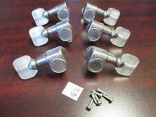 GROVER FUTURA PEARL BUTTON VINTAGE - 3 ON A SIDE MACHINE HEAD GUITAR TUNERS #56