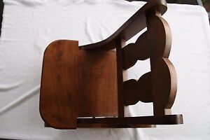 child folding classic fun walnut rocking chair