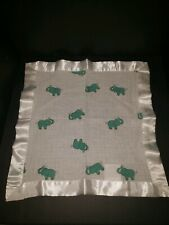 ADEN & ANAIS ELEPHANTS SECURITY BLANKET LOVEY SATIN TRIM MUSLIN