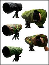 Canon 400mm f5.6 Impermeable Cámara Y Lente Lluvia Cubierta Negro Verde O Camuflaje