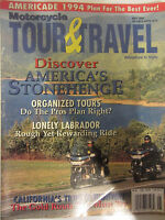 Motorcycle Tour & Travel Magazine May 1994 Discover America's Stonehenge