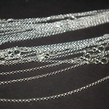 """20 pcs Sterling Silver 925 1.3mm Round ROLO / BELCHER Chain NECKLACES 18"""" 45cm"""