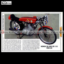 #TP Fiche Moto HONDA 50 cc RC 110 1962-1963 (Racing Bike)