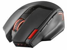 Trust GXT 130 Wireless Gaming Maus (Funkmaus, 2400 dpi, 9 Tasten) schwarz IMPORT