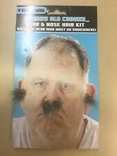 Mans men's joke nose and ear grey hair !!! A must for your old man costume fanct