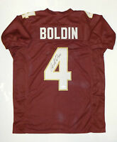 Anquan Boldin Signed / Autographed Maroon College Style Jersey- JSA W Auth