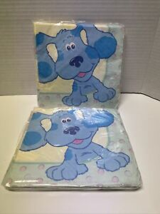 Blue's  Clues  Party Napkins (16 Count) Lot Of 2 NOS