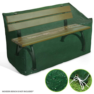 LIVIVO Heavy Duty 3 Seater Waterproof Outdoor Garden Bench Cover with Corner and