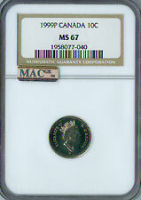 1999-P CANADA TEST 10 CENTS NGC MAC MS-67 PQ FINEST GRADE RARE SPOTLESS .
