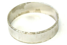 Monet Silver Tone Textured Bangle Bracelet