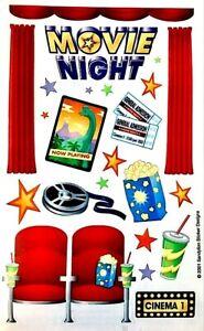 **RARE** Maxi MOVIE NIGHT POPCORN TICKETS Sandylion Stickers - 1 sheet ~RETIRED~
