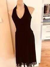 Ladies Black JOI Dress Size 8 Formal Fitted Halterneck Marilyn